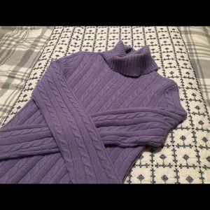 J Crew Merino Wool Cashmere Turtleneck Sweater